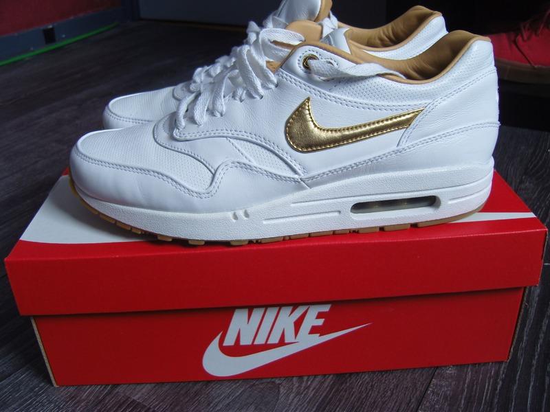 Air Max 1 White Gold