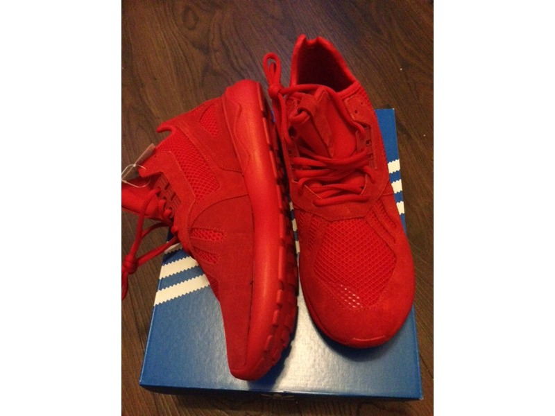 adidas tubular runner red