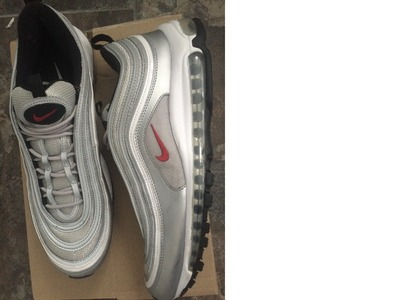 Image of Air Max 97 OG Silver/Red UK11 'Silver Bu...