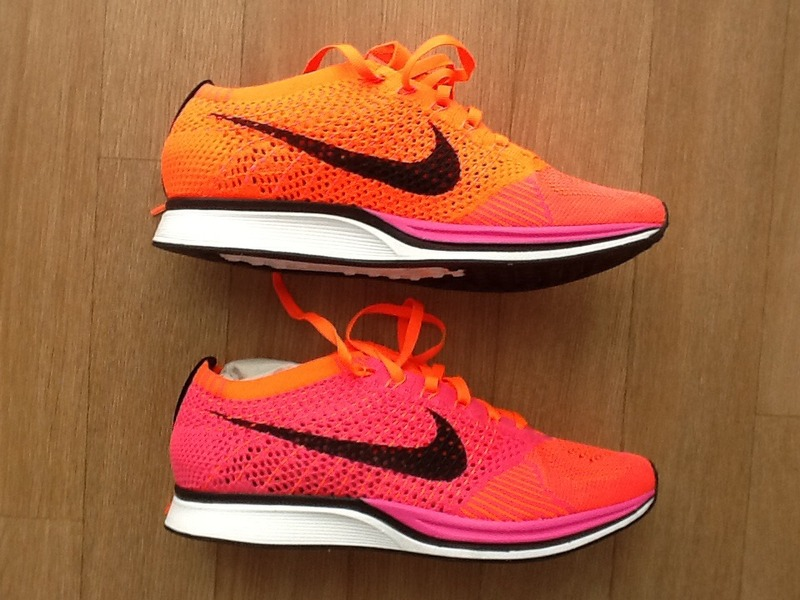 Nike Flyknit Racer Orange Pink cambridgenaturalskincare.co.uk