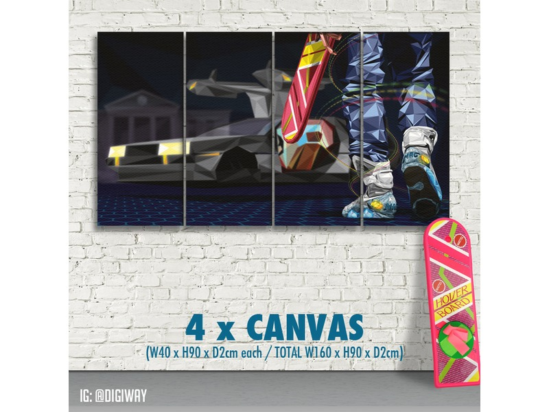 CANVAS of Nike Mag & Hoverboard - Back to the Future ...