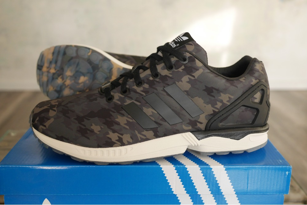 italia independent x adidas zx flux houndstooth camo