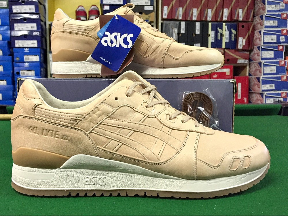 asics gel lyte iii beige leather