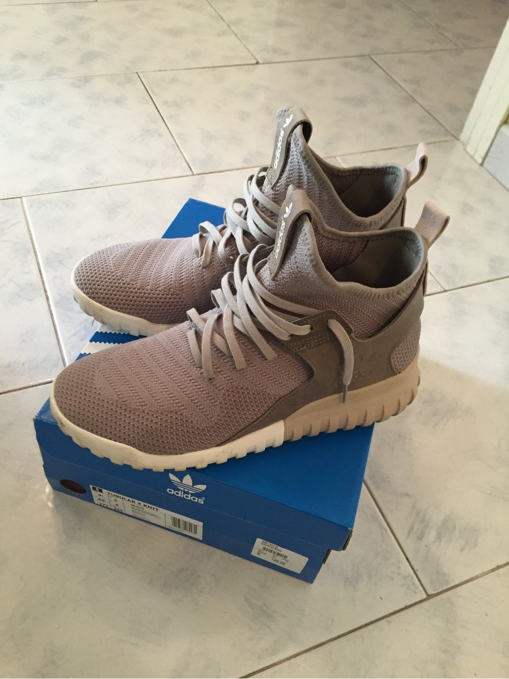 Men's Tubular X Prime Knit Athletic Running Sneaker Shiekh Shoes