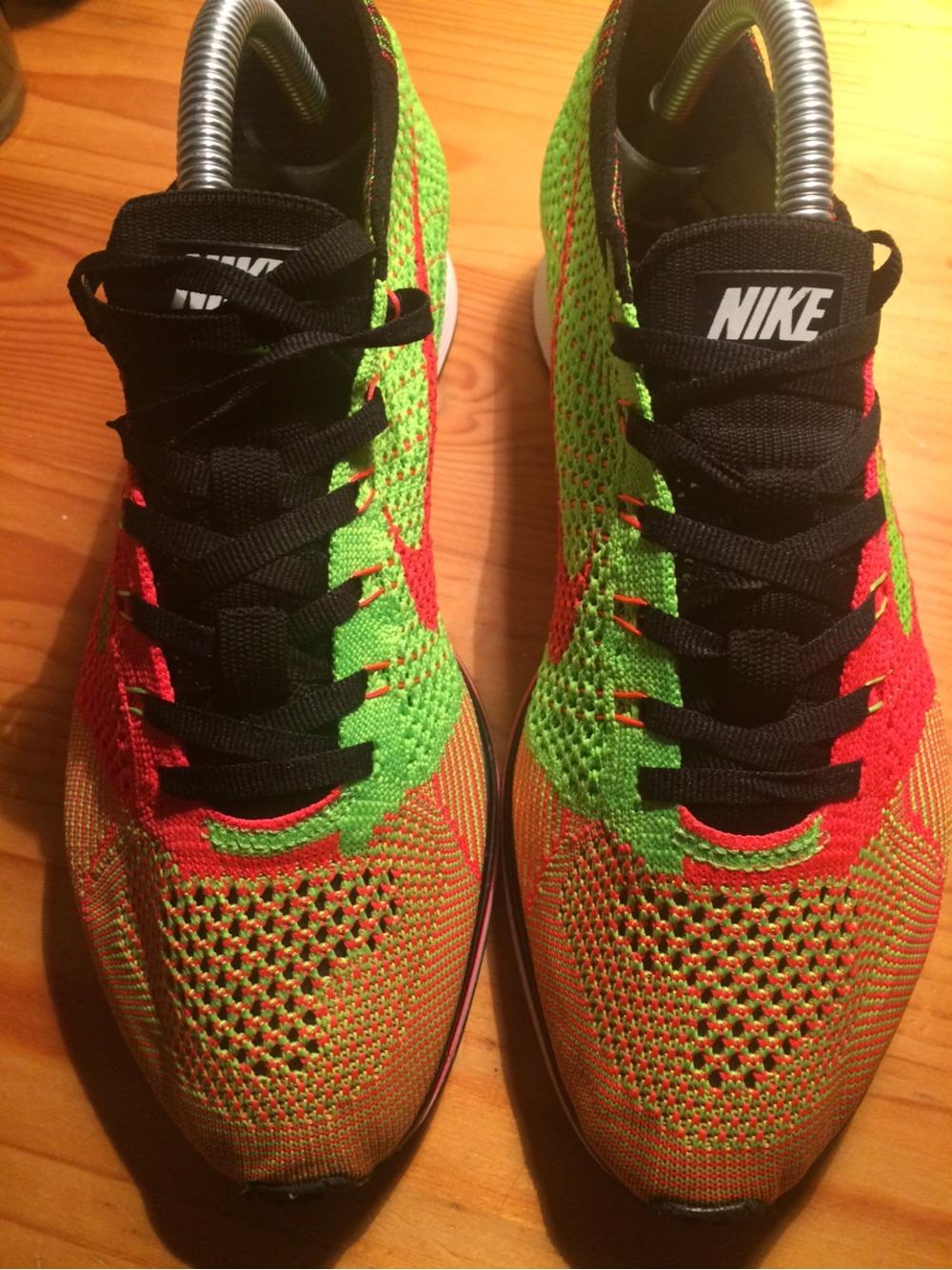 size 40 fbab1 a0e31 Nike Flyknit Racer Hyper Punch On Feet