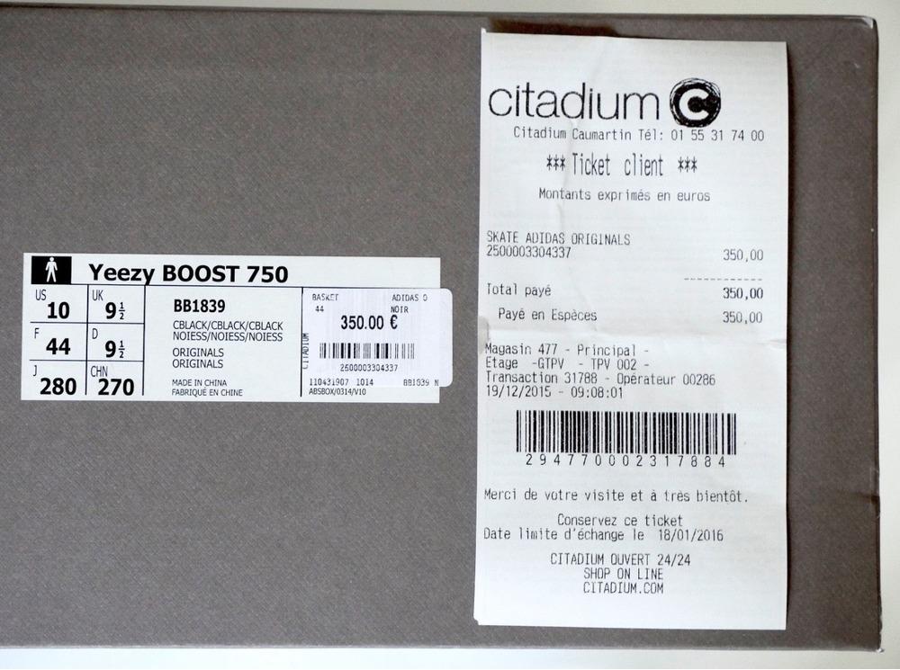 adidas yeezy 750 boost box