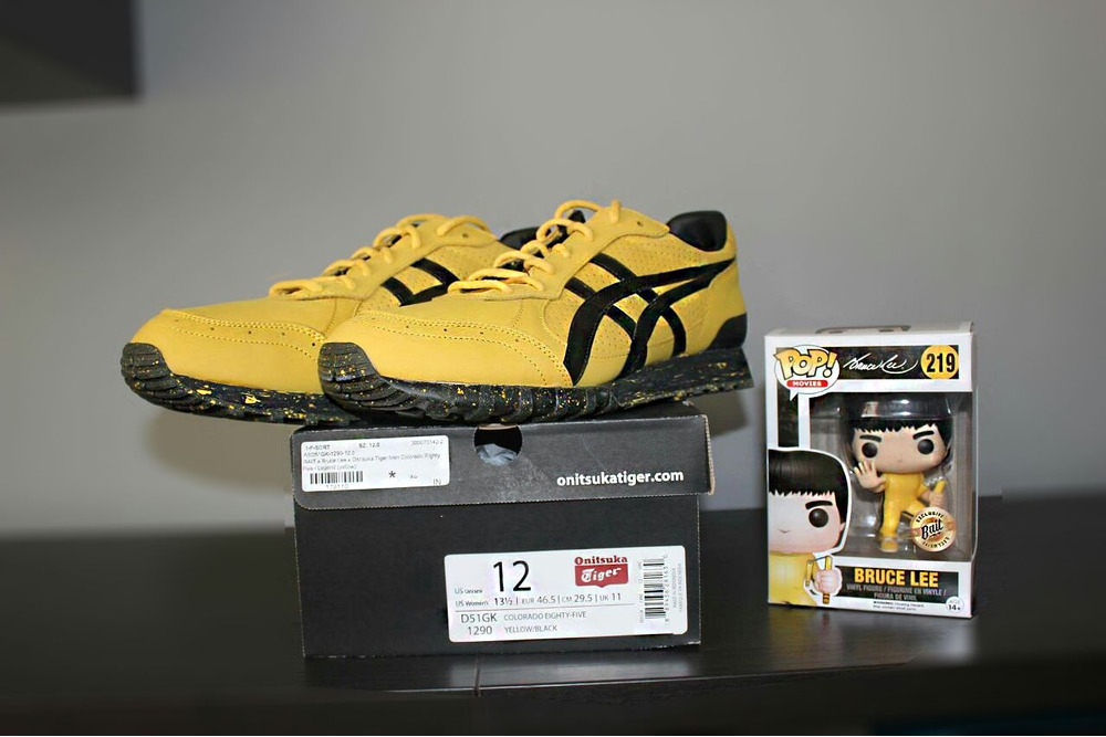 Onitsuka tiger bruce lee casual sport sneakers asics black and white