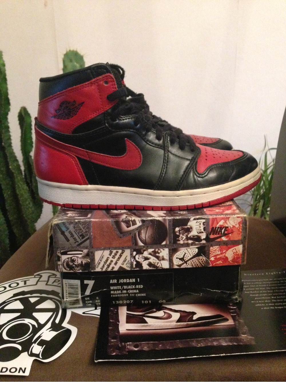 Jordan 1 Bred 1994 7US - photo 1/5