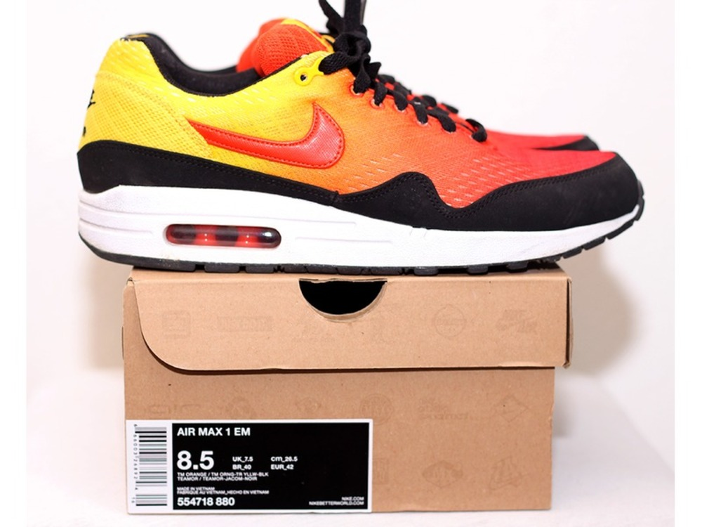 Nike Air Max 1 EM Sunset Pack / Team Orange (#276655) from Lukas at KLEKT