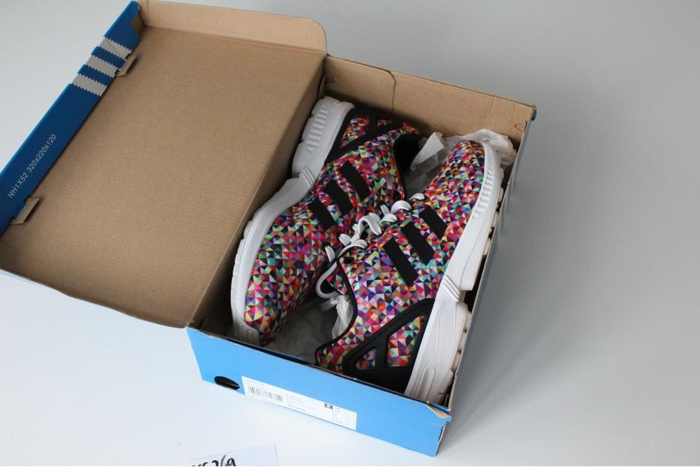 Adidas siyah Zx Flux K yeni sezon çocuk günlük spor ayakkabı