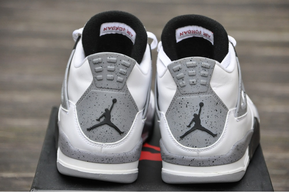nike air jordan 4 retro white cement. Black Bedroom Furniture Sets. Home Design Ideas