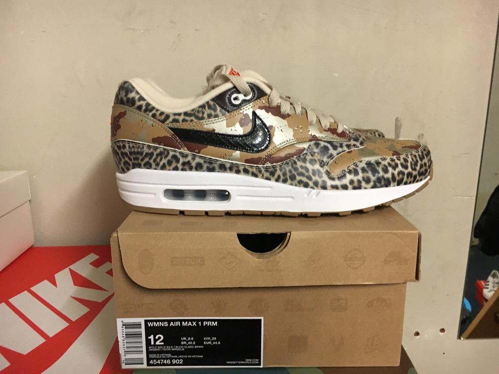 nike air max 1 leopard atmos