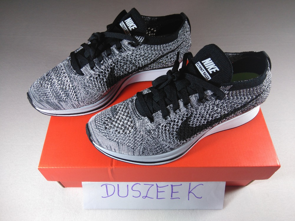 ... nike flyknit racer oreo 1.0 2015 4.5us ds photo 2 2