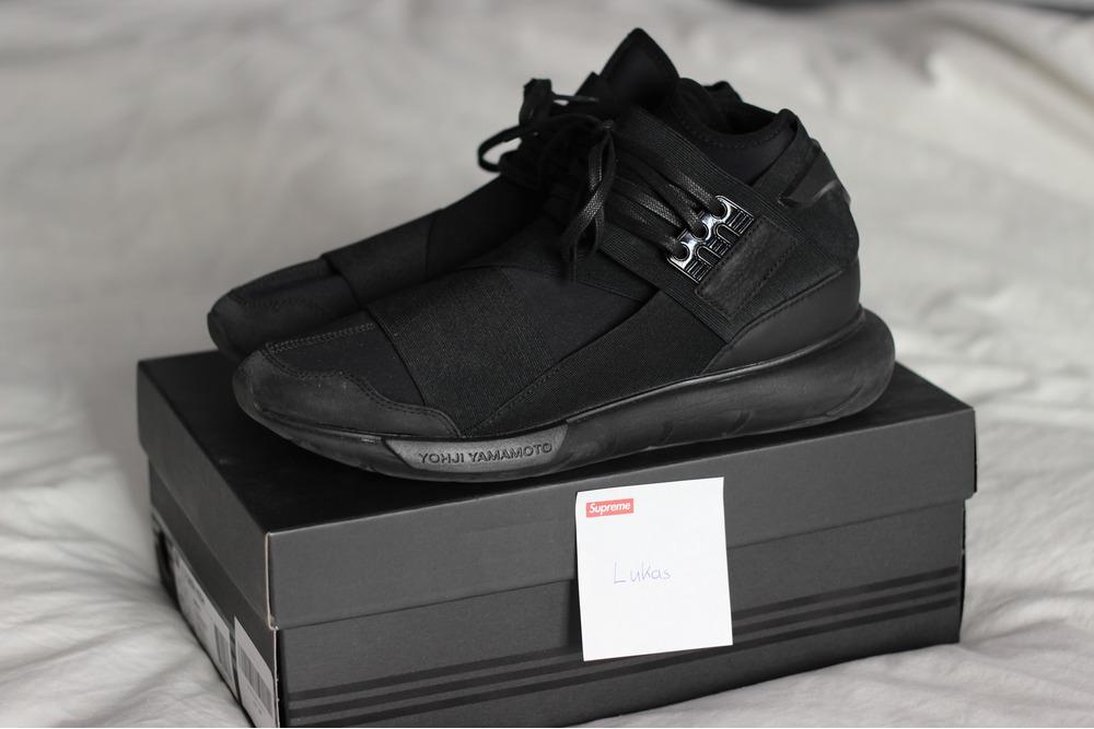 adidas y3 qasa high triple black. Black Bedroom Furniture Sets. Home Design Ideas