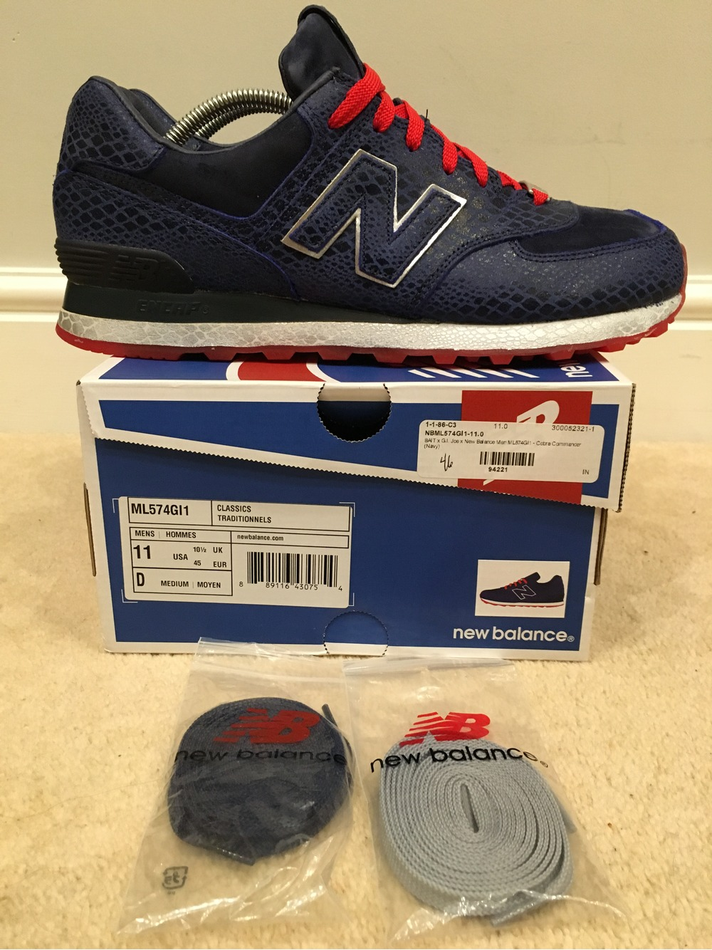 new balance hommes. new balance ml574 bait gi joe cobra commander - photo 1/5 hommes