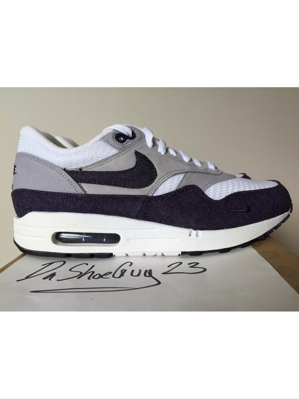uk availability ea79b 07537 DS Nike Air Max 1 PATTA PURPLE DENIM US 9 UK 8 - photo 1  ...