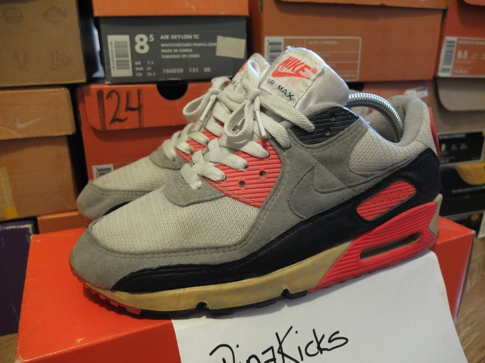 Og Nike Air Max 90 Infrared Us9 Vintage 295611 From