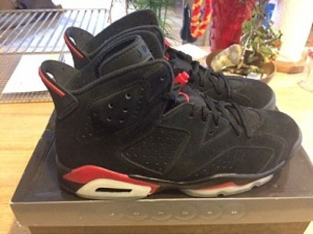 4552c9f9e6d3 2009 Nike Air Jordan VI 6 Retro BLACK VARSITY FIRE RED 384664-061 SZ10 ...