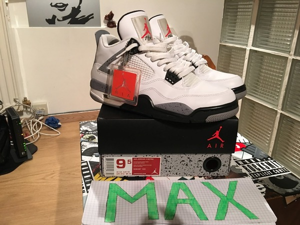 Nike Air Jordan 4 White Cement AJIV - photo 1/9