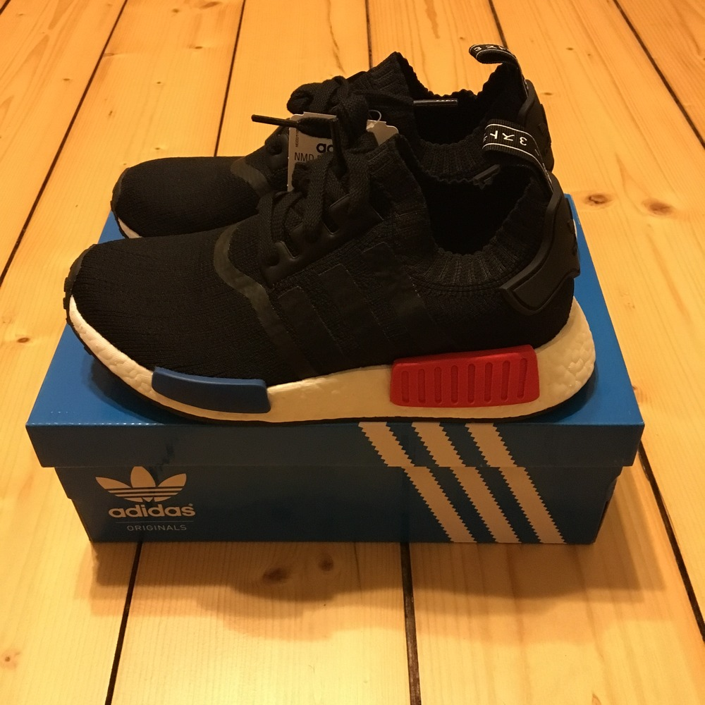 online store a041f bbf72 DS Adidas NMD R1 Primeknit PK Camo Pack BA8599 Solar Red US