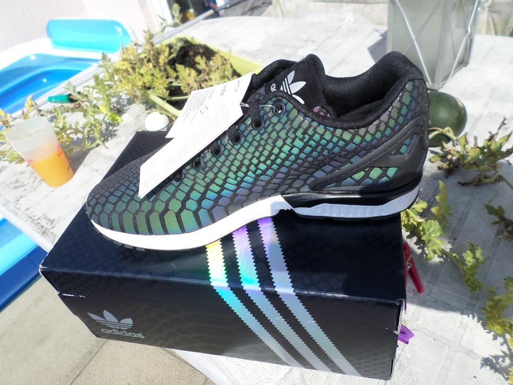 promo code af233 040eb canada adidas zx flux xenopeltis snake reflective grey f2b88 ...