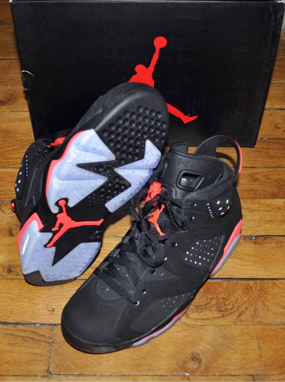 hot sales ffa9c e1c09 ... Nike Air Jordan 6 Black Infrared Size 7 Us 6 Uk 40 Eu - photo 3 ...