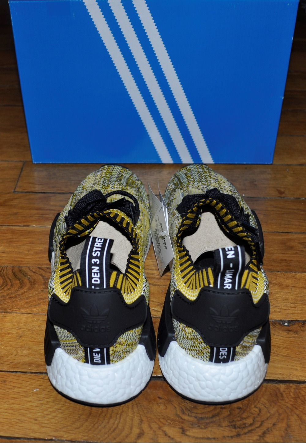 adidas NMD Runner R1 PK Yellow Black adidas Shoes Yellow