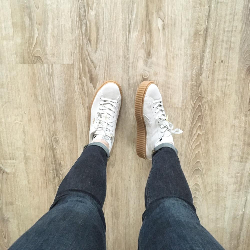 sports shoes 5177e 1d142 Puma Creepers White Suede