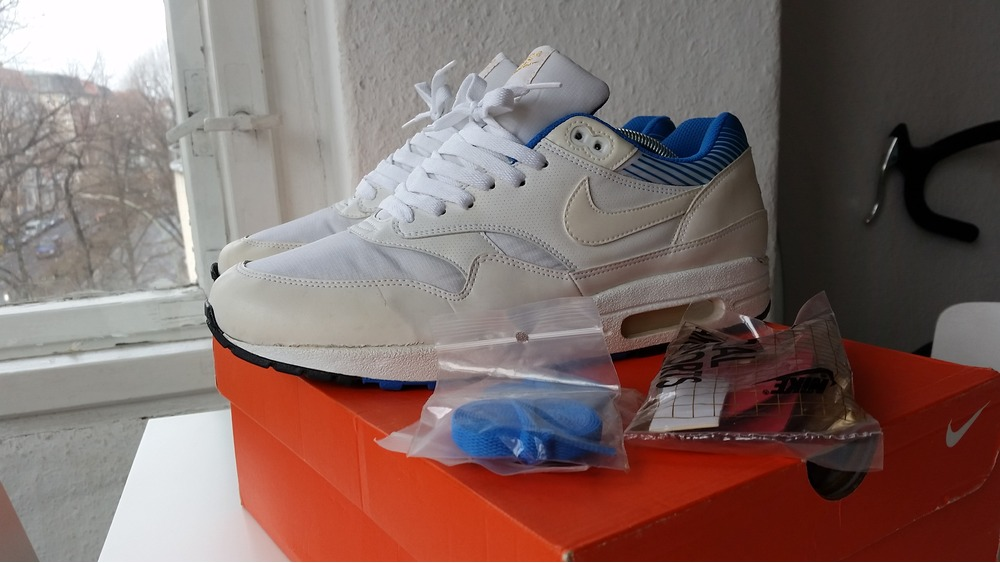 c166a598b45 Nike Air Max 1 Premium SP Euro Champ Blue US 10 ( 306081 .