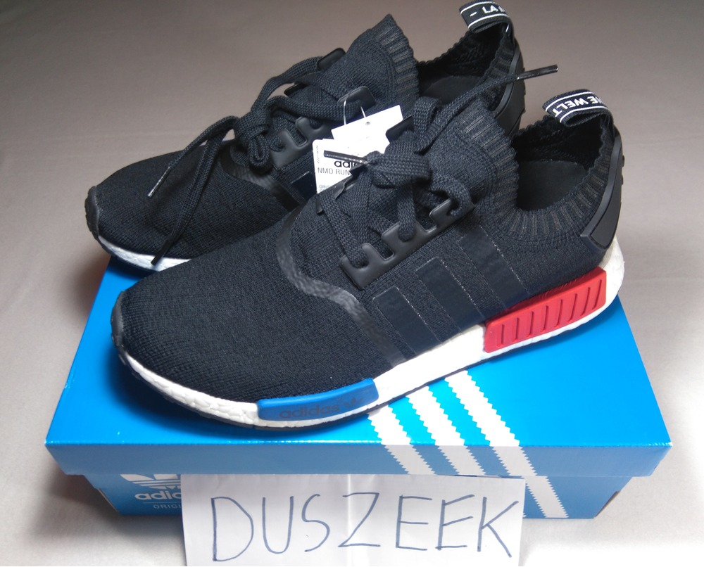New Men NMD R1 Runner OG CORE BLACK LUSH RED Shoes / Sneakers