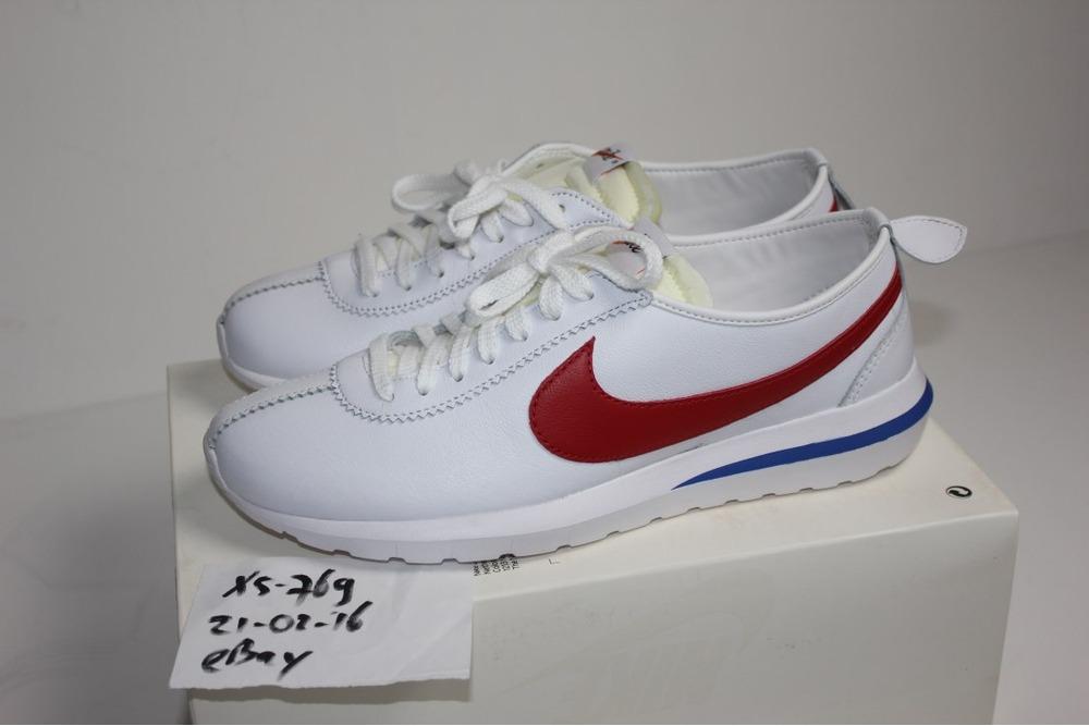 d85aece86106 ... Nike Roshe Cortez NM SP BRS 44 10 DS NikeLab QS Forrest Gump White Red  Fragment ...