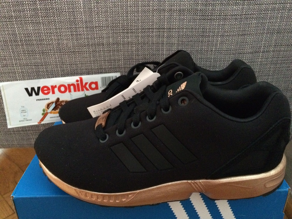 reputable site 4bc4c 24367 italy adidas copper and negro zx flux 20207 9be89