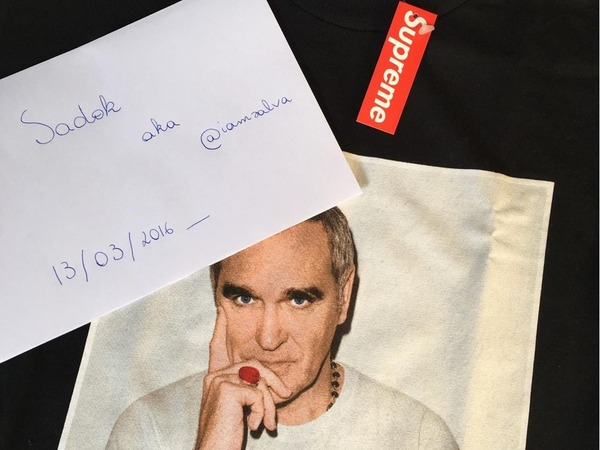 Tee Supreme Morrissey Black sz M - photo 1/1