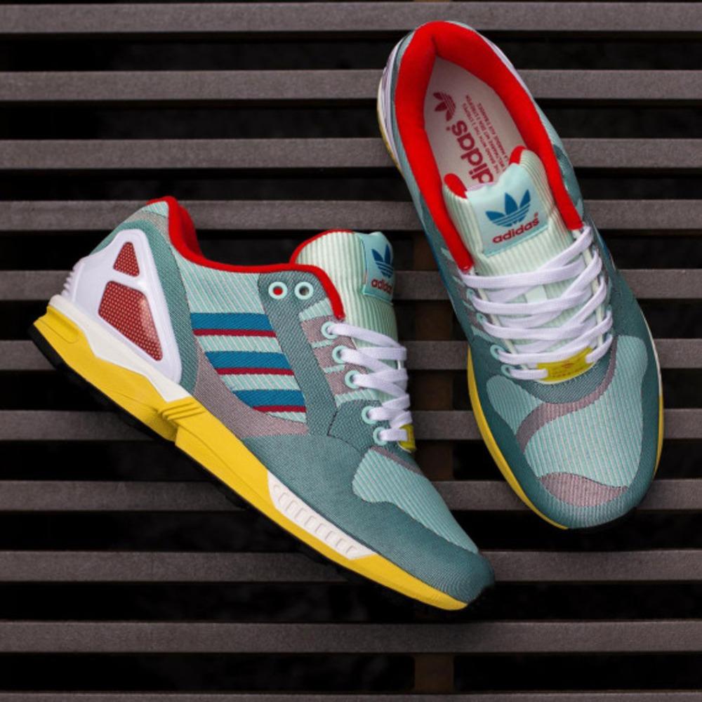 8bcdda822 adidas ZX FLUX Weave (Blue   Ftwr White   Core Black) Sneaker