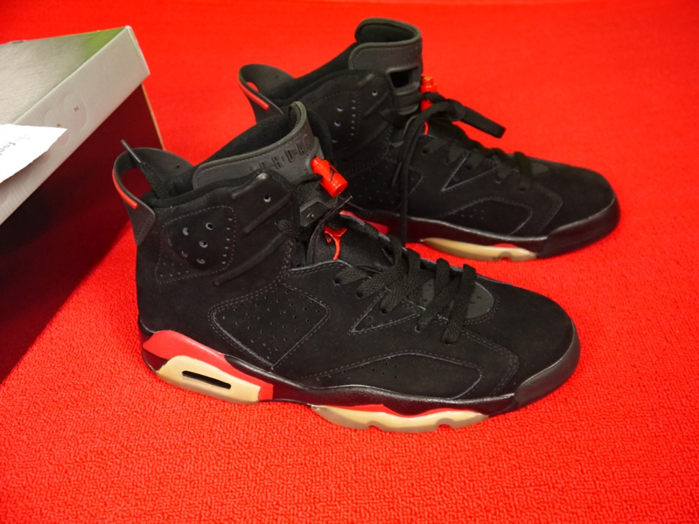 best authentic 6c8ed 9ce4f ... SIZE 10 Air Jordan 6 Retro Black black-Varsity Red 384664-061 - .