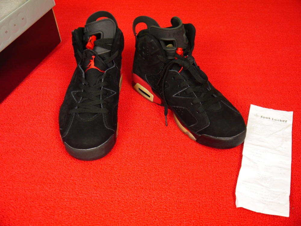 bb1905fcb2993b ... SIZE 10 Air Jordan 6 Retro Black black-Varsity Red 384664-061 ...