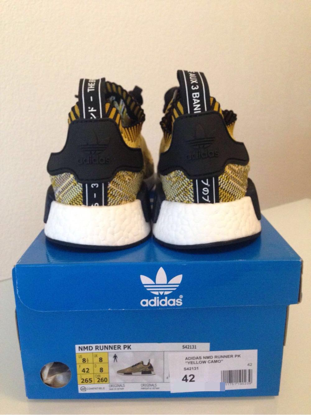 adidas nmd r1 primeknit yellow>>adidas nmd primeknit runner