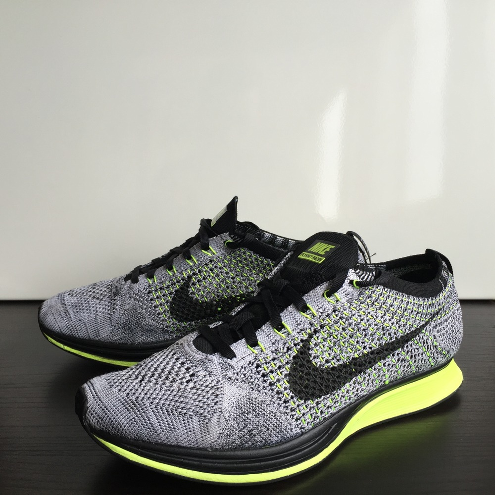 sports shoes f1e4a 6864d discount nike flyknit racer oreo volt . b1504 c5070