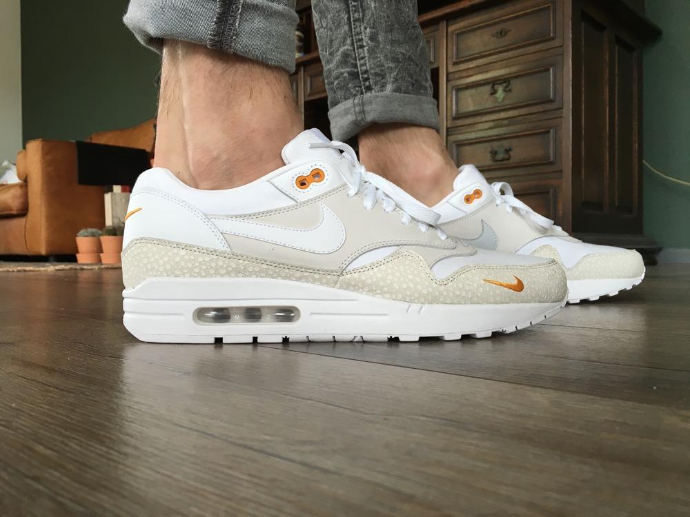Nike Air Max 1 Safari White Kumquat Prm