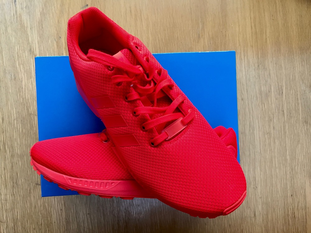 info for 50a23 2b9e7 adidas triple red zx flux