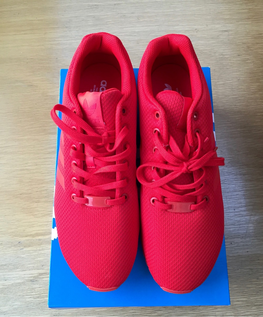 premium selection 4212b 285c6 ... norway adidas triple red zx flux dd4b6 48e62