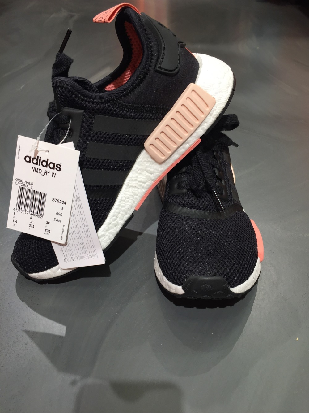 online store 86b5a 0544e ... discount code for adidas nmd runner r1 grey light pink womens trainers  by3058 og 600bb cd9a7