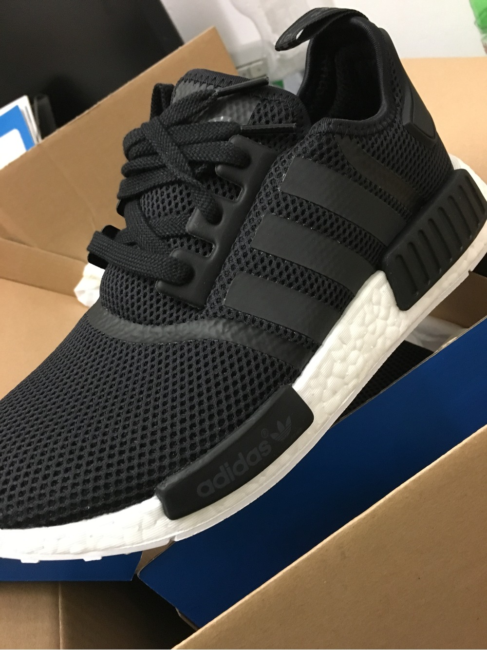 866f13705 New Adidas NMD R1 Black Reflective Grey White 3M Champs