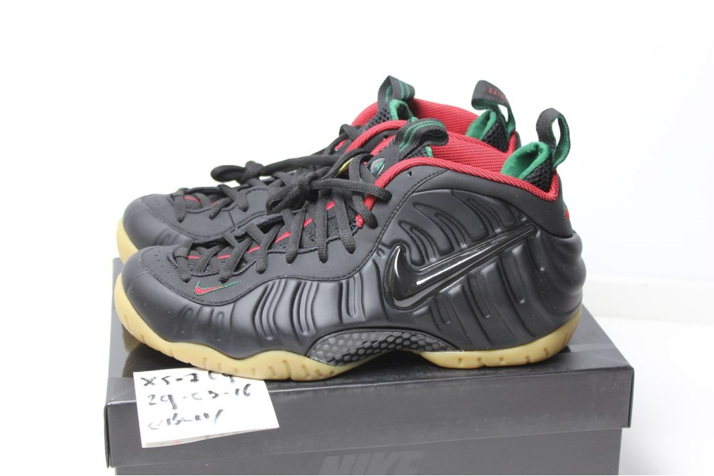 Nike Air Foamposite Pro DS 45 11 Gucci Black Gorge Green Gym Red Gold Foams  camo 3be37a0d8