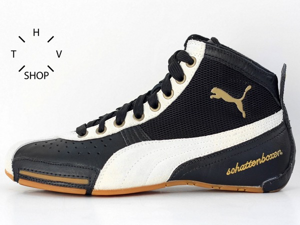 Puma Boxing Schattenboxen Mid sneakers hi tops boxing wrestling boots leather combats - photo 1/8