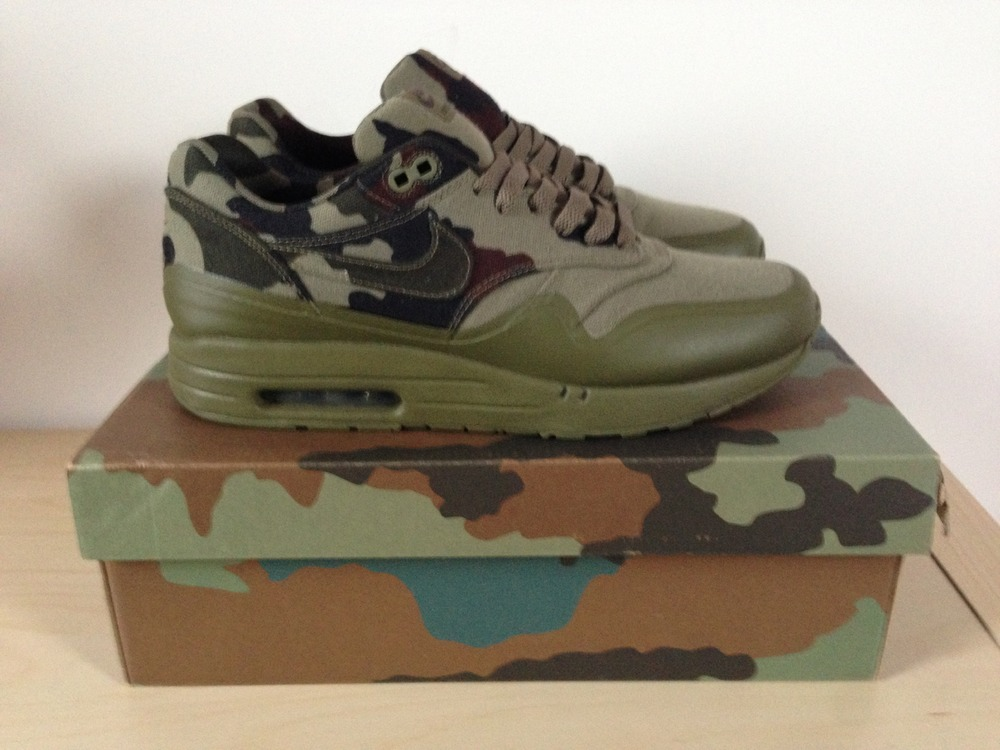 Nike Air Maxim 1 France SP Camouflage Cool Grey Black