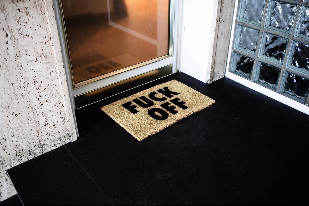 Fuck Off Doormat 84