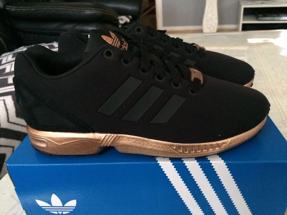 new style a1c18 8fb1e adidas zx flux black bronze