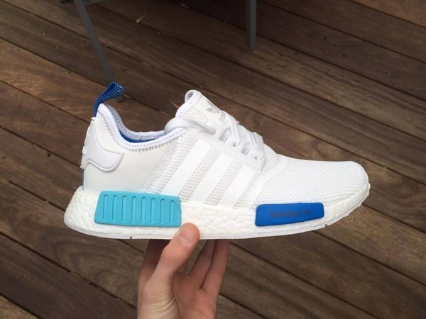 Adidas NMD White Blue Glow UK 6 - photo 1/9
