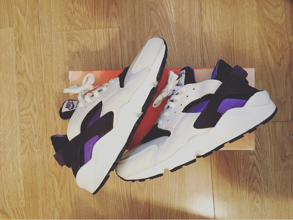 75c4cc9a8242 where can i buy nike air huarache run 91 qs ah8049 001 black purple white ds  size 31ca1 e4197  get nike air huarache purple punch for sale 15ded cf546